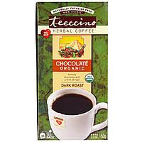 Teeccino, Травяной кофе, сильная обжарка, органический шоколад, без кофеина, 25 пакетиков, 5,3 унции (150г)
