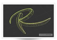 Эмблема 3D R-Logo DEK-G9A - KIA Sorento R (DETAIL PART), фото 3