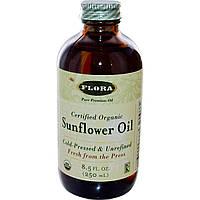 Flora, Сертифицированное, органическое подсолнечное масло, 8,5 жидких унций (250 мл)