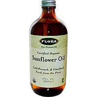 Flora, Органическое подсолнечное масло, 17 жидких унций (500 мл)