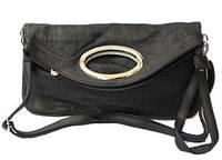 Женская сумка-клатч двойного сложения с набивным узором