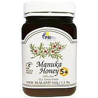 PRI, 100% природный мед Манука 5+, 500 г (1,1 фунта)