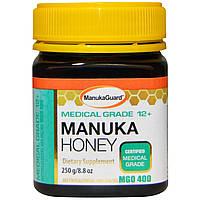 Manuka Guard, Мед манука, для медицинских целей 12+, 8,8 унции (250 г)