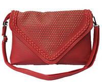 Женская сумка-конверт бордовая