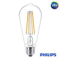 Лампа Philips LED ST64 7W  (диммируемая) LONG Premium