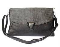 Классическая сумка-конверт на плечо с набивным узором