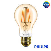 Лампа Philips LED A60 7.5W GOLD (диммируемая)  Premium