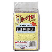 Bobs Red Mill, Голубая кукурузная мука, средний помол, 24 унции (680 г)