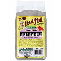 Bobs Red Mill, Органическая цельнозерновая гречневая мука, 22 унции (623 г)