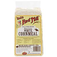 Bobs Red Mill, Белая кукурузная мука, цельнозерновая, 24 унции (680 г)
