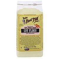 Bobs Red Mill, 100%-ная цельнозерновая соевая мука, 16 унций (453 г)