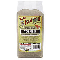 Bobs Red Mill, Цельнозерновая мука из теффа, 24 унции (680 г)