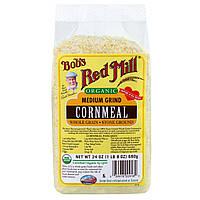 Bobs Red Mill, Органическая кукурузная крупа среднего помола, 24 унции (680 г)