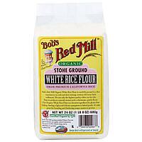 Bobs Red Mill, Органическая камень белая рисовая мука, размолотая каменными жерновами, 24 унции (680 г)