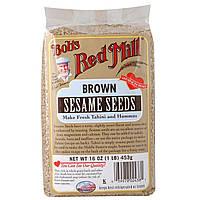 Bobs Red Mill, Коричневые семена кунжута, 16 унций (453 г)