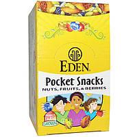 Eden Foods, Organic, Pocket snacks, тыквенные семечки с острой приправой, сухие жареные, 12 пакетиков, 1 унция (28,3 г) каждый