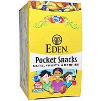Eden Foods, Pocket Snacks, фисташки, 12 пакетиков, 1 унция (28,3 г) каждый