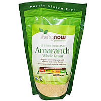 Now Foods, Сертифицированные органические цельные зерна амаранта, 16 унций (454 г)