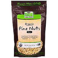 Now Foods, Real Food, органические, кедровые орехи, сырые, 8 унций (227 г)