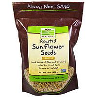 Now Foods, Семена подсолнечника, обжаренные, несоленые, 16 унций (454 г)