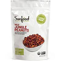 Sunfood, Дикий арахис из джунглей, 227 г (8 унций)
