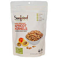 Sunfood, Сырые органические косточки абрикоса, ,благоухающие семечки абрикоса, 227 г