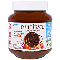 Nutiva, Органический арахисовый спред, классический, 13 унции(369 г)