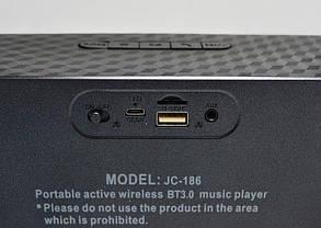 Мини динамик Bluetooth JC-186 (красный, голубой, серебро, черный), фото 3