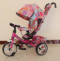 Велосипед трехколесный для девочки TILLY Trike T-344-1 МАЛИНОВЫЙ