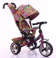 Велосипед трехколесный для девочек TILLY Trike T-344-2 ФИОЛЕТОВЫЙ