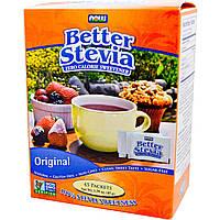 Now Foods, Улучшенная Стевия, подсластитель без калорий, натуральный, 45 пакетов, 45 г (1,59 унции)