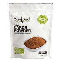 Sunfood, Натуральный порошок из сладких рожков, сырой, 1 фунт (454 г)
