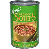 Amys, Органический овощной суп из чечевицы, 14,5 унций (411 г)