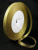Лента парчовая, цвет Золото, 10мм*1м