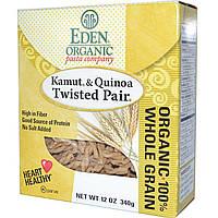 Eden Foods, Органические макаронные изделия, камут и киноа, Витая пара, 12 унций (340 г)