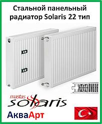 Стальной радиатор Solaris (Mastas) 22 тип боковое подключение 500*400