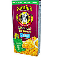 Annies Homegrown, Органические макароны с сыром с низким содержанием соли, 6 унций (170 г)