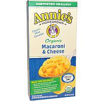 Annies Homegrown, Органические макароны с сыром, классический чеддер, 6 унций (170 г)