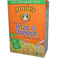Annies Homegrown, Макароны с сыром для микроволновой печи, настоящий чеддер, 5 пакетиков, 2,15 унции (61 г) каждый