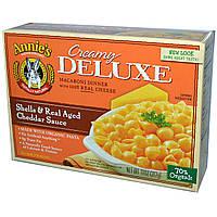 Annies Homegrown, Делюкс обед. Ракушки с соусом из сыра чеддер 11 унции (312 г)