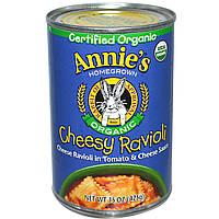 Annies Homegrown, Органические равиоли с сыром, 15 унций (425 гр)