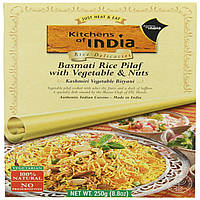 Kitchens of India, Kashmiri Biryani, Basmati Rice Pilaf with Vegetables & Nuts, 8.8 oz.