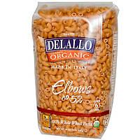 DeLallo, Elbows №52, На 100% органическая паста из цельной пшеницы, 16 унций (454 г)