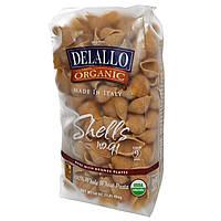 DeLallo, Ракушки № 91, 100% органическая паста из цельной пшеницы, 454 г