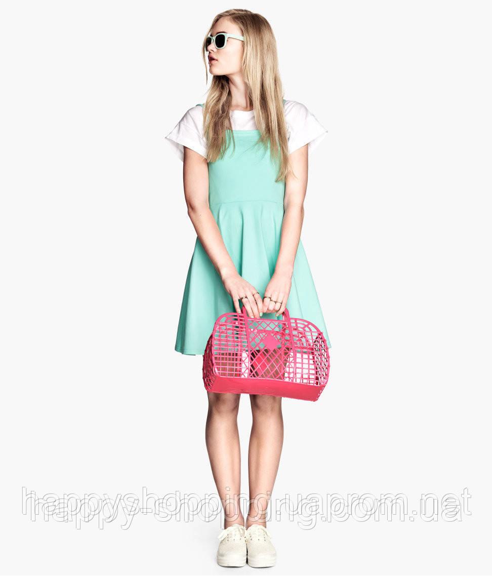 Розовая сумка H&M
