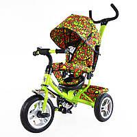Велосипед 3-х колесный TILLY Trike T-351-4 САЛАТОВЫЙ надувные колеса