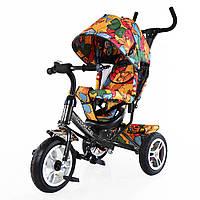 Велосипед детский с ручкой 3-х колесный TILLY Trike T-351-7 ГРАФИТОВЫЙ