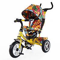 Велосипед 3-х колесный TILLY Trike T-351-7 ЗОЛОТОЙ с родительской ручкой