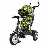 Детский велосипед трехколесный TILLY Trike T-351-8 ГРАФИТОВЫЙ надувные колеса