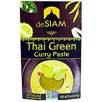 DeSIAM, Тайский зеленый карри, паста, острая, 2,4 унции (70 г)
